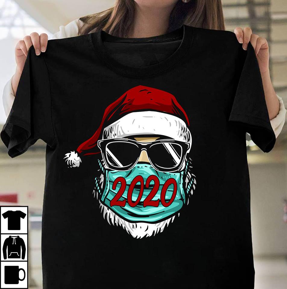 2020 Santa Claus Wearing Facemask buy t shirt designs online