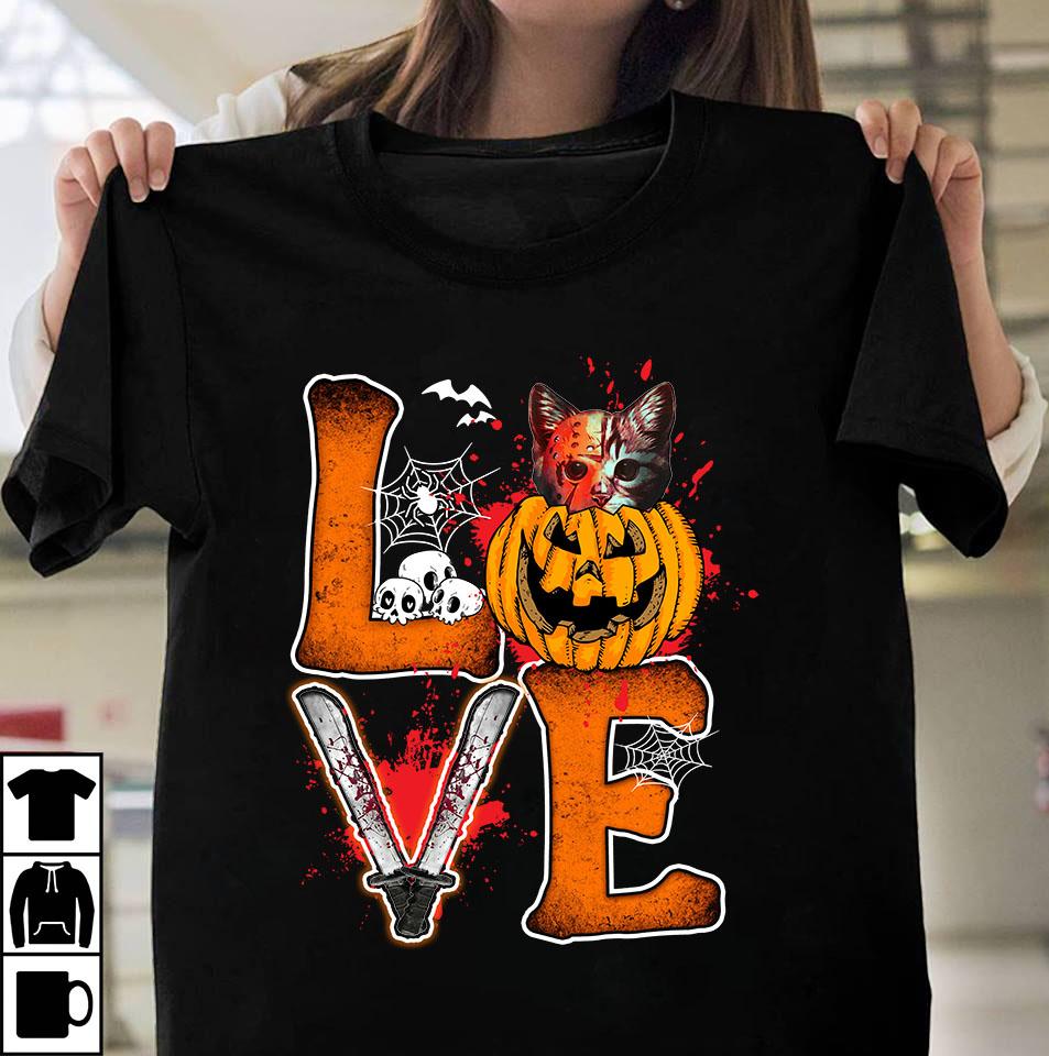 Love cat halloween