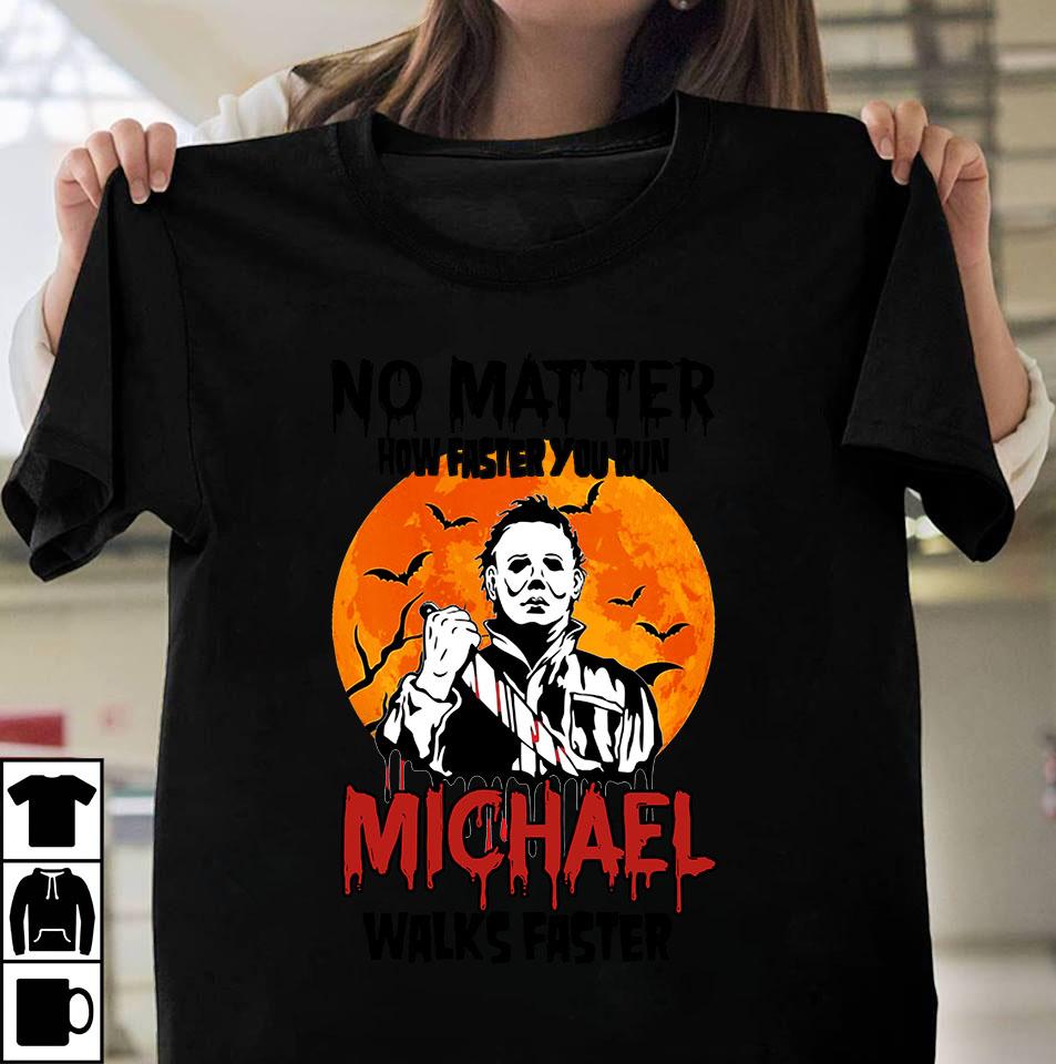 Michael walks faster