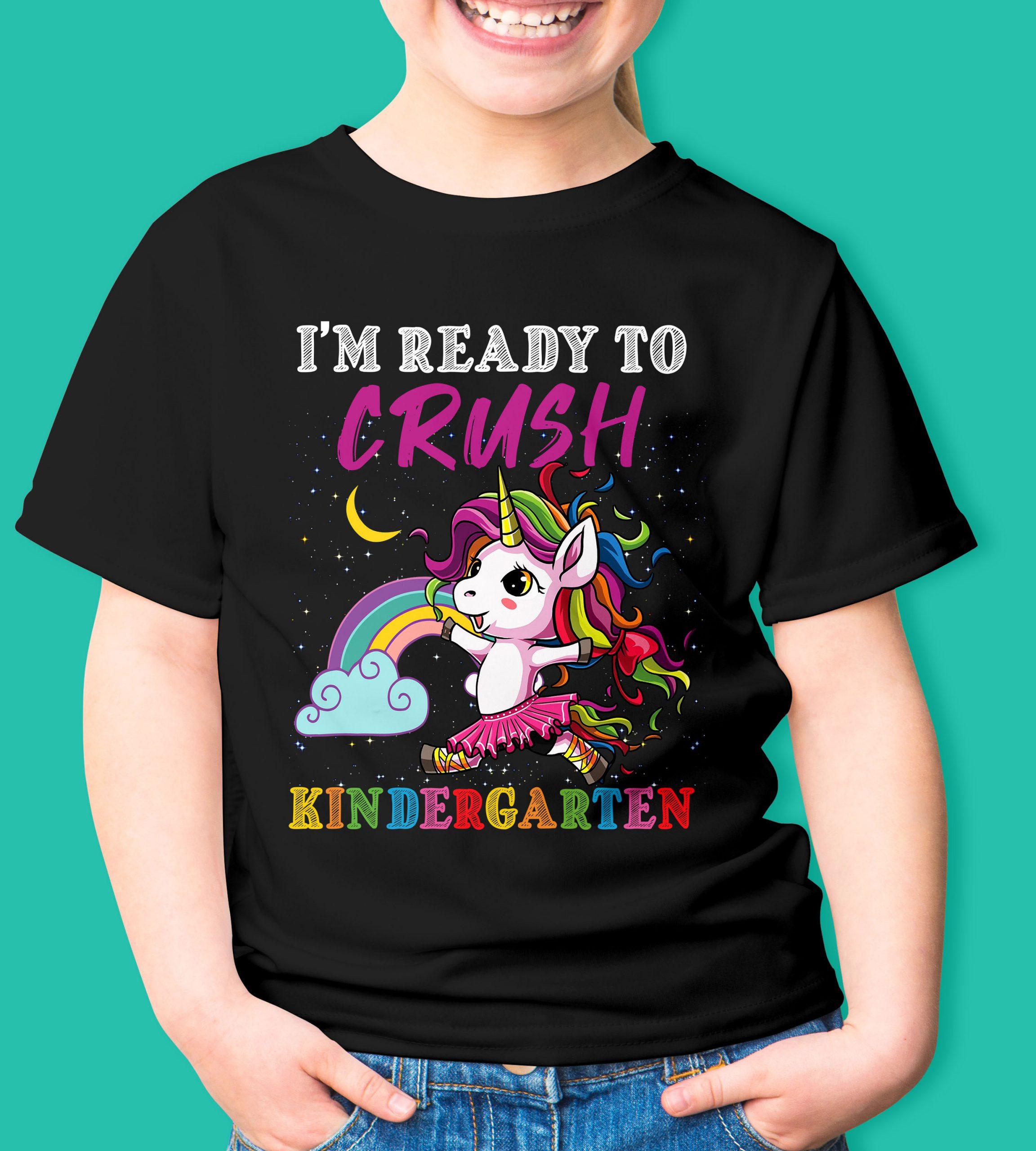 Unicorn ready to crush kindergarten