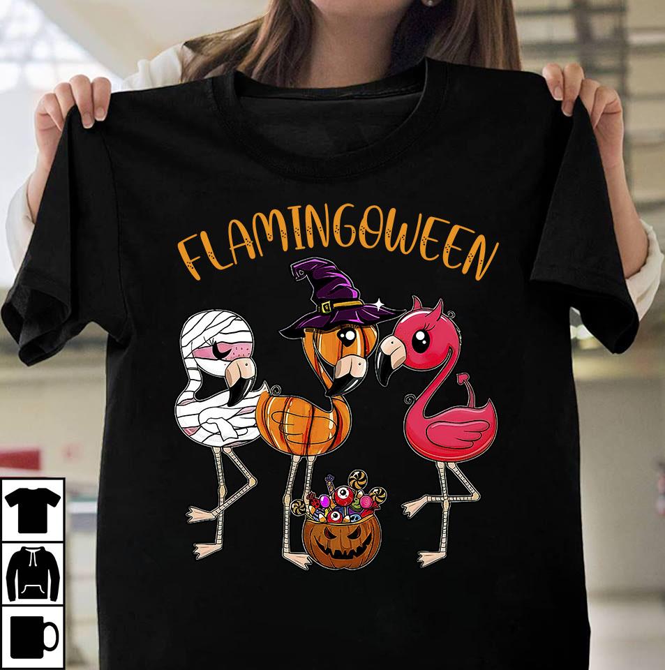 Flamingoween design
