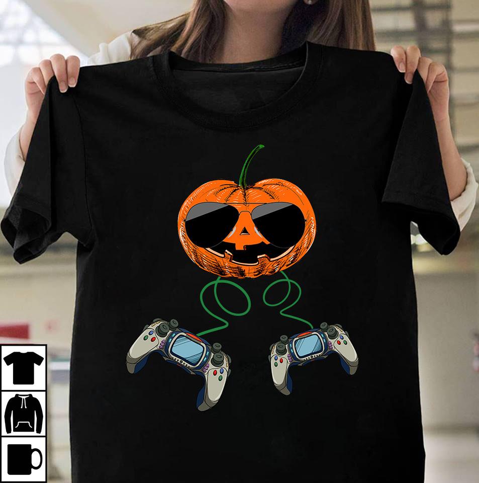 Gamer Pumpkin Design